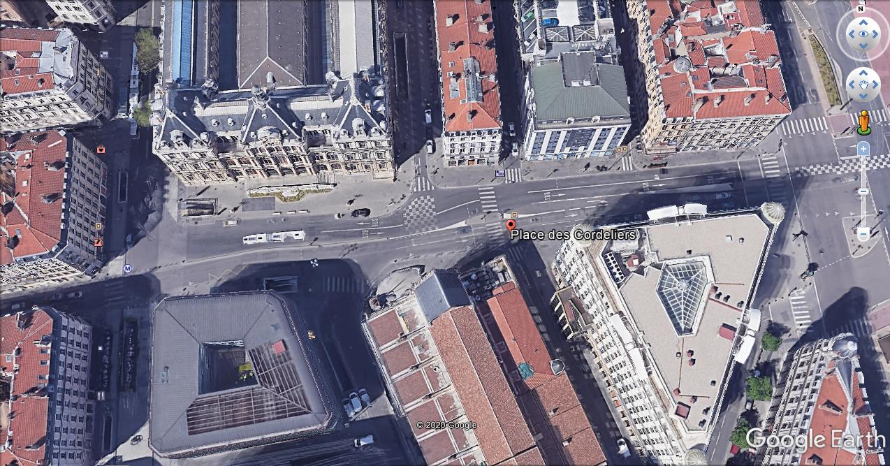 Place des Cordeliers - Google Earth