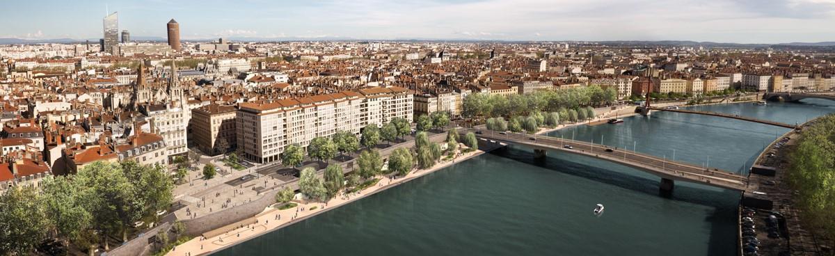 Vue generale des terrasses de la presquile asylum metropole de lyon v2